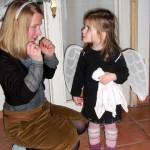 Mia und Bianca als Engelchen