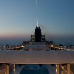 6.5. Unser Deck beim Sonnenuntergang